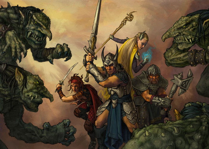 Review:  Old D&D Games